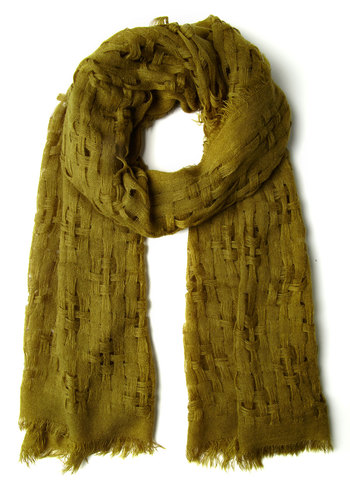 Olive Grove Scarf - Green, Solid, Boho