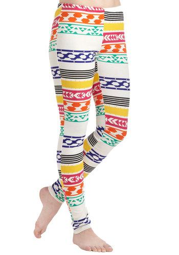 Create a Colorful Path Leggings