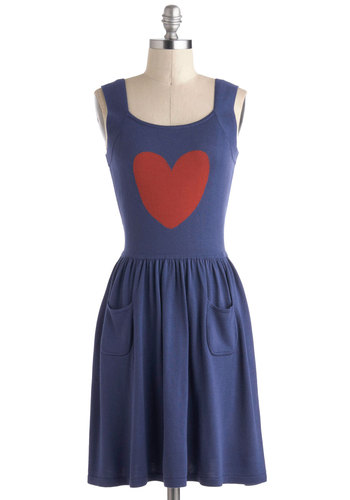 Skippin' a Beat Dress by Effie's Heart - Blue, Red, Pockets, Casual, A-line, Tank top (2 thick straps)