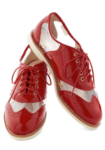 Rachel Antonoff for Bass New Orleans Attitude Shoe in Red