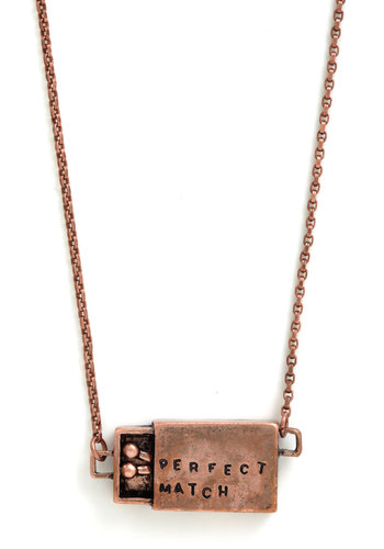 Striking Style Necklace - Copper, Solid, Quirky, Graduation