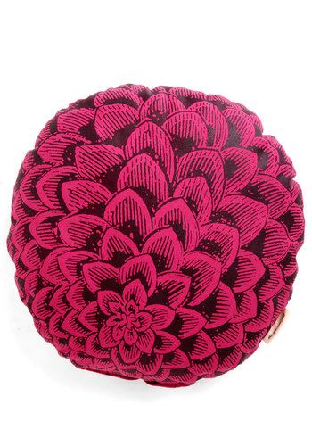 It's a Dahlia Pillow - Cotton, Pink, Dorm Decor