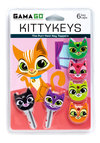 A Lock to Love Key Cap Set by Gama-Go - Multi, Kawaii, Print with Animals, Quirky, Cats, Good