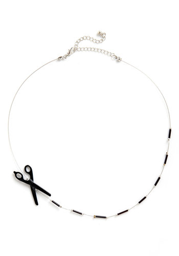 DIY Not? Necklace - Silver, Black, Solid, Beads, Quirky, Handmade & DIY