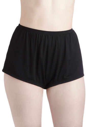 To Stay or To Go Sleep Shorts - Black, Solid, High Waist, Casual