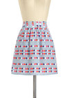 My Favorite Party Skirt - Blue, Red, Purple, Pink, White, Party, A-line, Novelty Print, Casual, Exclusives, Short, Pockets