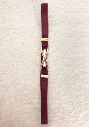 Vintage Executive Bordeaux Belt