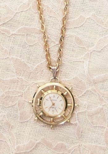 Vintage Launch Time Necklace