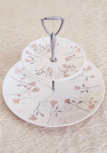 Vintage Baking Flower Serving Tray