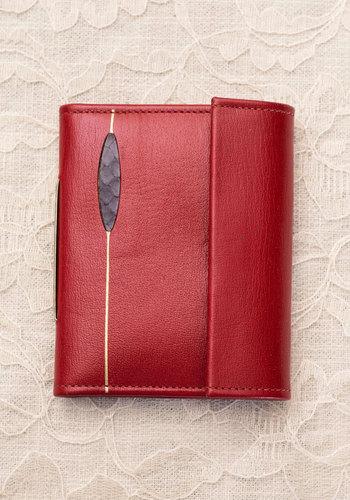 Vintage Red Letter Date Wallet