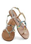 Shimmer Down Sandal by Steve Madden - Multi, Summer, Flat, Faux Leather, Cutout, Beach/Resort