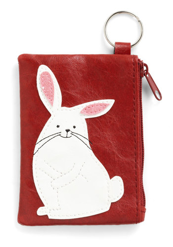 Cute Coin-Keeper Change Purse - Red, Black, White, Print with Animals, Kawaii, Faux Leather, Best Seller, Woodland Creature, Top Rated