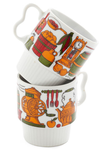 Vintage Cook and Klatch Mug Set