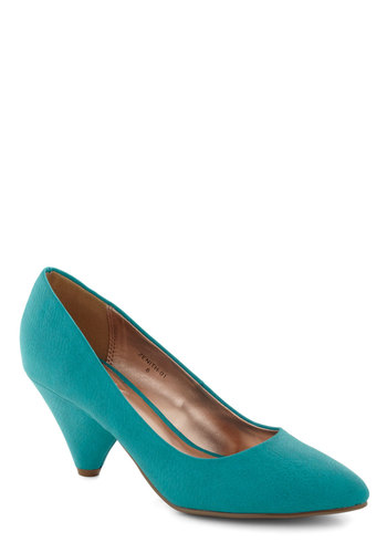 Lemonade My Day Heel in Blueberry - Blue, Solid, Work, Mid, Girls Night Out, Minimal, Variation
