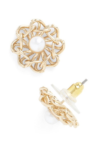 Freshwater Girl Earrings - Gold, White, Solid, Pearls, Luxe, Graduation, Bridesmaid, Top Rated