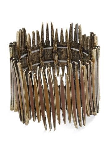Fence Forever Bracelet - Gold, Solid, Rustic