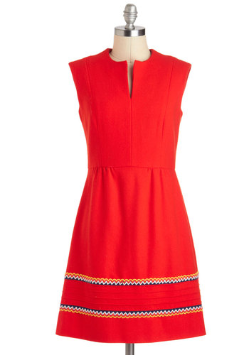 Vintage Going Once, Twice, Bold! Dress