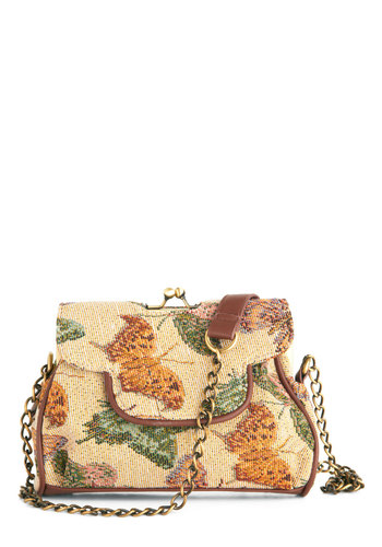 Total Transformation Bag - Tan, Multi, Print with Animals, Trim, Vintage Inspired, French / Victorian