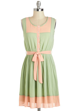 Urban Garden Party Dress in Sage