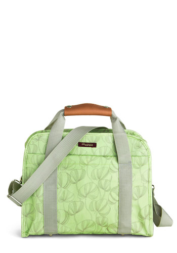 Pannier Or Far Bag - Green, Print, Grey, Pastel, Casual, Graduation, Travel