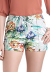 Time in the Tropics Shorts - Multi, Orange, Green, Blue, Grey, Floral, Daytime Party, Beach/Resort, Vintage Inspired, Pockets, Pinup, High Waist, Summer