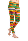 Rockin' Modern Life Leggings in Orange - Multi, Orange, Yellow, Green, Pink, White, Print, Casual, Neon, Skinny, Vintage Inspired, 90s, Variation