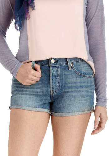 Prix Fixie Shorts by Levi's - Blue, Pockets, Casual, Denim, Cotton, Beach/Resort, Summer