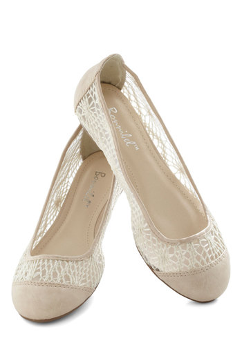 Craft Fair Flare Flat in Cream - Cream, Solid, Crochet, Flat, Casual, Summer, Faux Leather