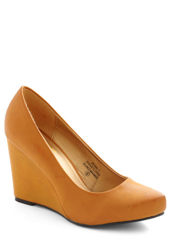 Candied Yams Wedge - Yellow, Solid, Wedge, Work, Variation