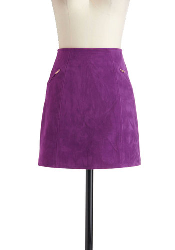 Sorbet the Rules Skirt by Mink Pink - Purple, Pockets, Solid, Party, Girls Night Out, A-line, Mod, Short