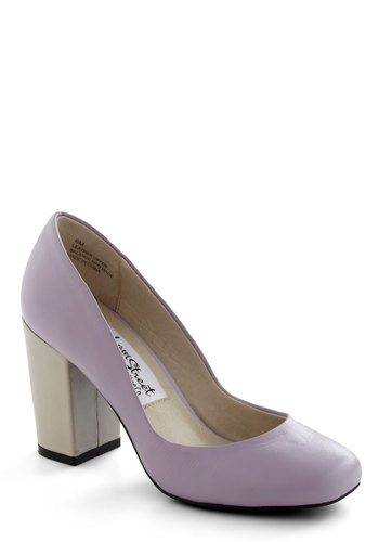 Bakery Window Bliss Heel in Lilac - Purple, Solid, Pastel, Mid, Leather, Wedding, Party, Vintage Inspired, Exclusives, Graduation, Variation, 60s