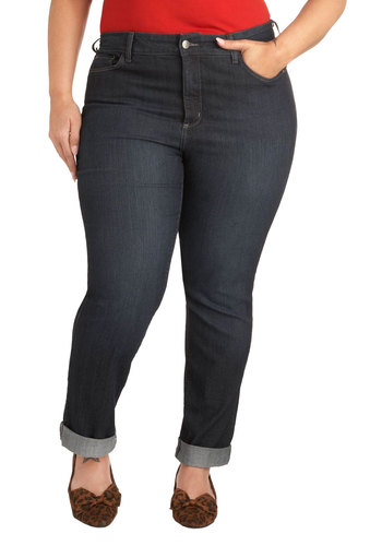 To-Dos to Drinks Jeans in Plus Size - Denim, Blue, Solid, Pockets, Casual, Skinny, Fall, Gifts Sale