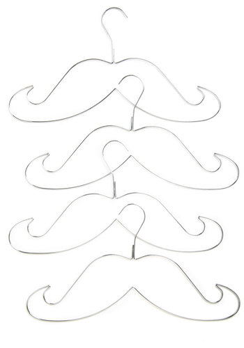 Whiskered Away Hanger Set by Gama-Go - Silver, Quirky
