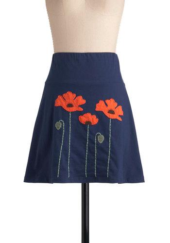 Planting Poppies Skirt