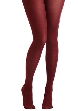 Tights for Every Occasion in Wine