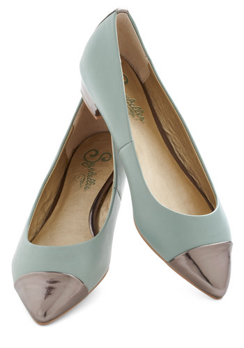 Juniper Flat by Seychelles - Low, Leather, Blue, Silver, Work, Casual, Mint, Graduation
