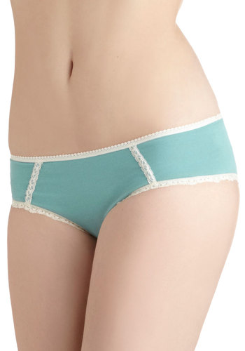 All Out Comfortable Undies in Solid by PACT - Blue, White, Solid, Lace, Trim, Cotton, Pastel, Eco-Friendly