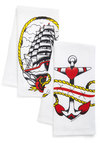 Race Against Maritime Towel Set - Cotton, Multi, Nautical