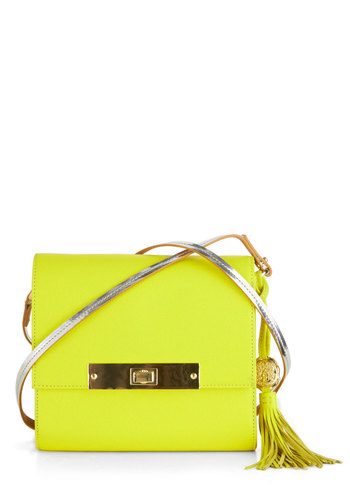 Sunshine on My Shoulder Bag - Yellow, Solid, Tassels, Leather, Statement, Urban, Neon