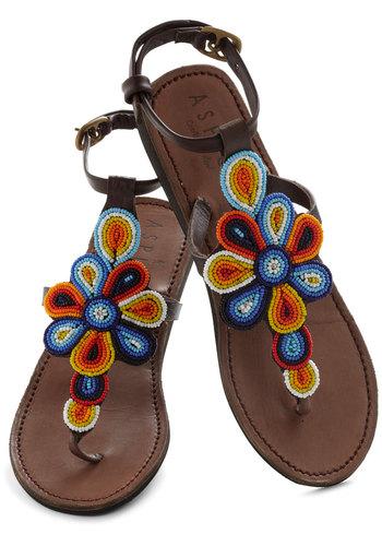 Long Walks on the Beads Sandal