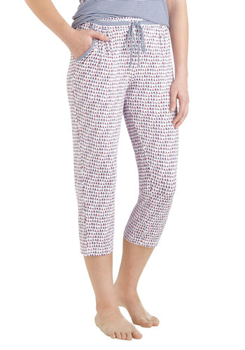 Along We Go Sleep Pants by Kensie - Stripes, Nautical, Multi, Red, Blue, White, Novelty Print, Casual, Cropped, Winter