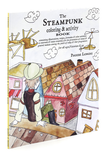 The Steampunk Coloring & Activity Book - Multi, Dorm Decor, Handmade & DIY, Steampunk