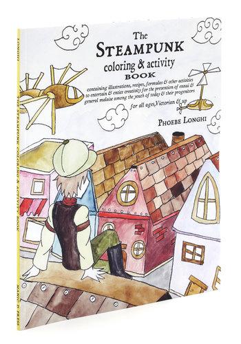 The Steampunk Coloring & Activity Book - Multi, Dorm Decor, Handmade & DIY, Steampunk