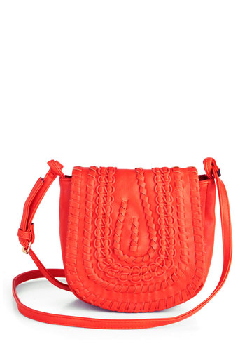 Bridle Party Bag in Sunset - Orange, Solid, Woven, Boho, Vintage Inspired, 70s, Variation, Summer