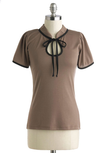 Make the Most of It Top in Mocha