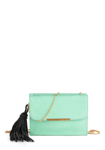 Mint to Be Yours Bag - Green, Solid, Chain, Leather, Party, Cocktail, Vintage Inspired, Luxe, Pastel