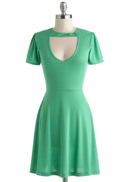 Exhilarating Evening Dress in Green