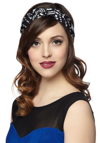 A Twist Goodnight Headband - Black, White, Print, Travel