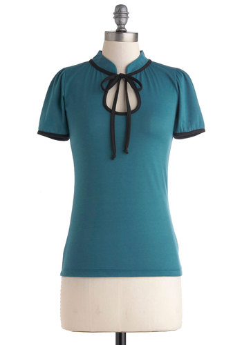 Make the Most of It Top in Teal