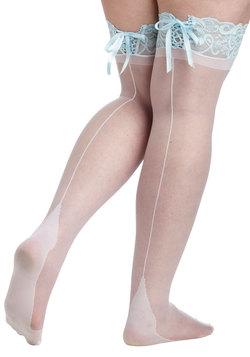 Pas de Blue Thigh Highs in Plus Size